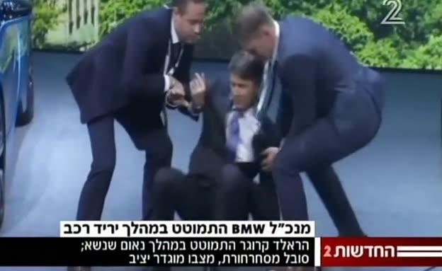 """מנכ""""ל BMW התמוטט במהלך מסיבת עיתונאים"""